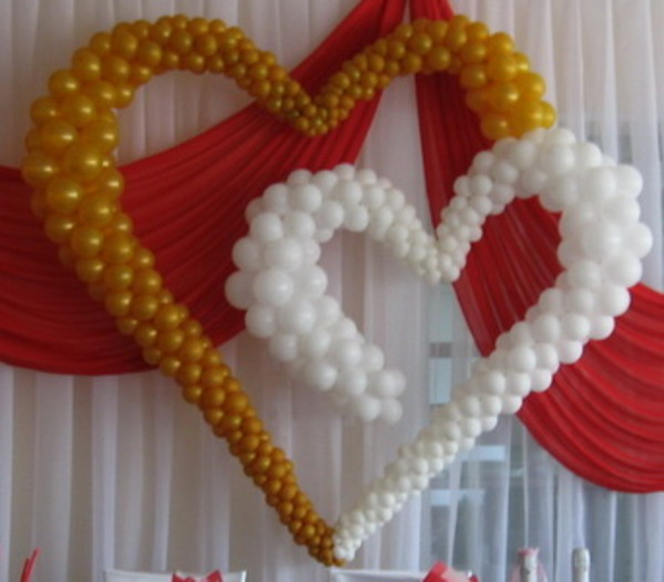 Сердца из воздушных шаров фото своими руками